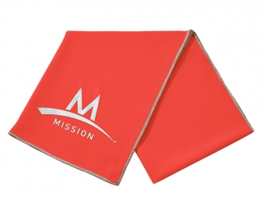 Mission Enduracool Tech Knit Towel High Vis Coral sport