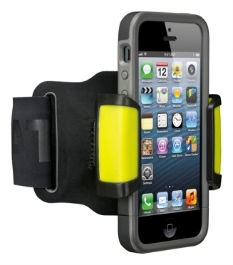 Nathan SonicMount smartphone amband Black/Sulfur Spring 975525