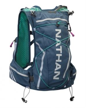 Nathan VaporShadow 11L race vest donkerblauw - groen