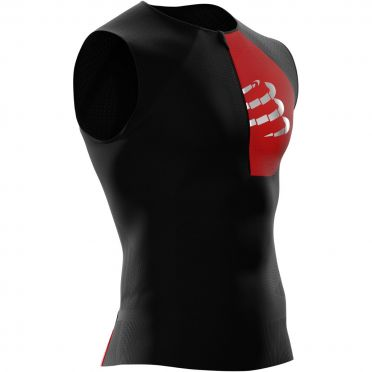 Compressport Postural mouwloos compressie tri top zwart heren