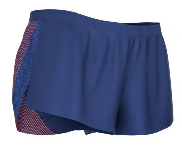 Compressport racing split short blauw heren