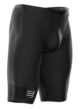 Compressport Under control compressie hardloopshort zwart heren