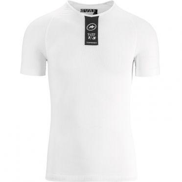Assos Skinfoil SS Summer korte mouw ondershirt wit unisex