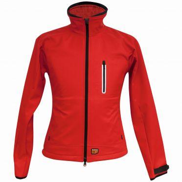 30Seven softshell jas dames rood