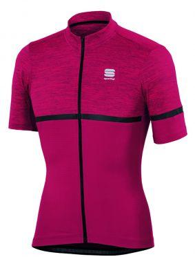 Sportful Giara jersey korte mouw fietsshirt bordeaux rood heren