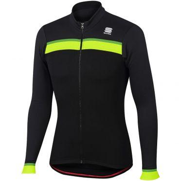 Sportful Pista thermal fietsshirt lange mouw zwart/antraciet heren