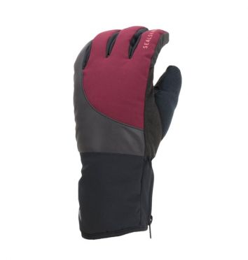 SealSkinz Cold weather reflecterende fietshandschoenen zwart/rood
