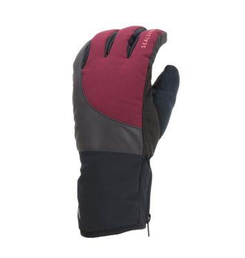 SealSkinz Cold weather reflecterende fietshandschoenen zwart/rood