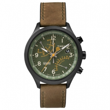 Timex outdoorhorloge IQ Fly-back Chronograph groen/olijf T2P381