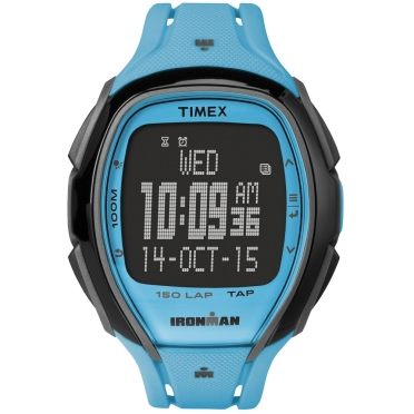 Timex Sleek 150 sporthorloge blauw 46mm