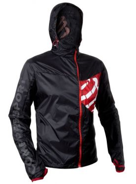 Compressport Trail hurricane jacket hardloopjack zwart