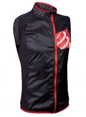 Compressport Trail hurricane vest hardloopjack zwart