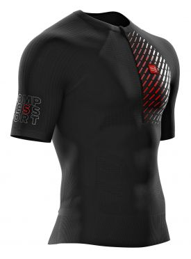 Compressport Trail running postural korte mouw compressieshirt zwart heren