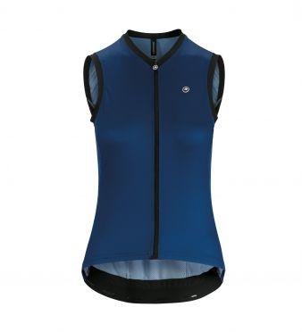 Assos UMA GT NS mouwloos fietsshirt blauw dames