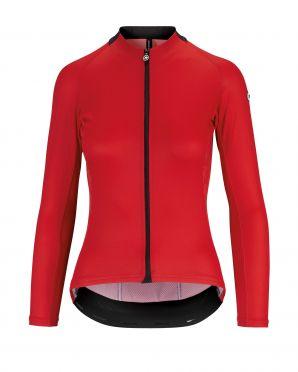 Assos UMA GT Summer lange mouw fietsshirt rood dames