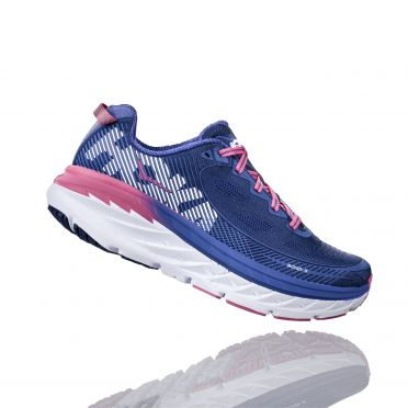 Hoka One One Bondi 5 hardloopschoenen blauw/roze dames