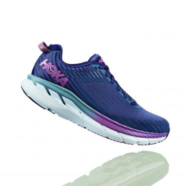 Hoka One One Clifton 5 hardloopschoenen paars dames