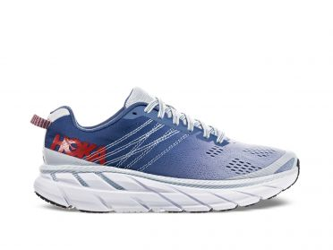 Hoka One One Clifton 6 hardloopschoenen blauw/wit dames