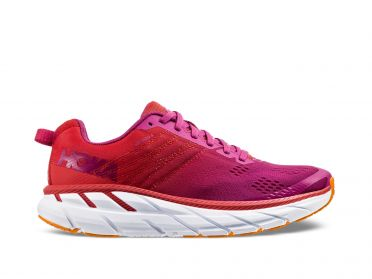 Hoka One One Clifton 6 hardloopschoenen rood/wit dames