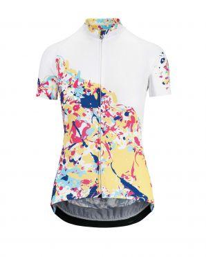 Assos Wild SS korte mouw fietsshirt wit/candy dames