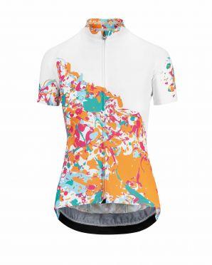 Assos Wild SS korte mouw fietsshirt wit/granita dames