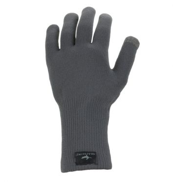 SealSkinz Ultra grip knitted fietshandschoenen grijs