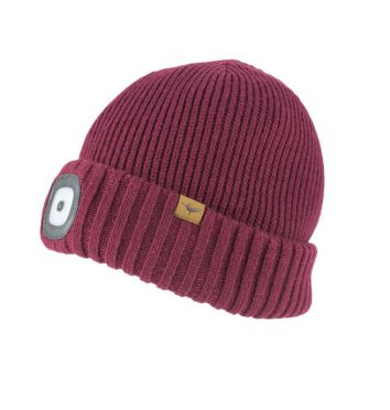 Sealskinz cold weather led beanie rood