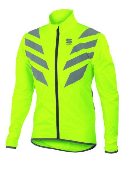 Sportful Reflex lange mouw jacket fluo geel heren  1101635-091