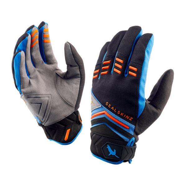 SealSkinz Dragon eye MTB fietshandschoenen zwart/blauw/oranje  1211640-048