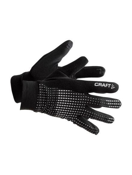 Craft Brilliant 2.0 thermal hardloophandschoen zwart/reflecterend  1904311-1999