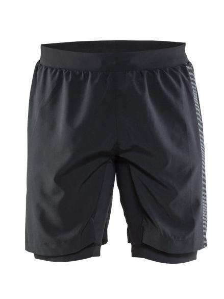 Craft Grit hardloop short zwart heren  1904797-9563