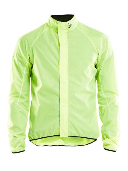 Craft Mist regen fietsjacket geel heren  1906092-851999