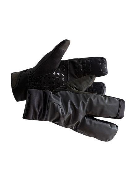 Craft Siberian 2.0 Split finger fietshandschoenen zwart unisex  1906571-999000