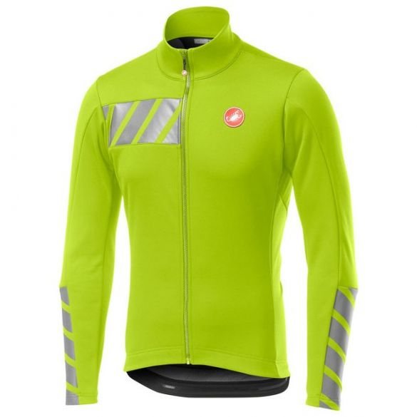Castelli Raddoppia 2 jacket geel fluo heren  19506-032
