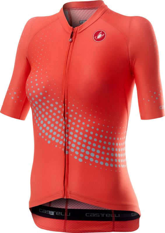 Castelli Aero pro W korte mouw fietsshirt roze dames  20064-288