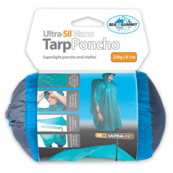 Sea to Summit Ultrasil 15D Nano Tarp Poncho blauw 976162  00976162