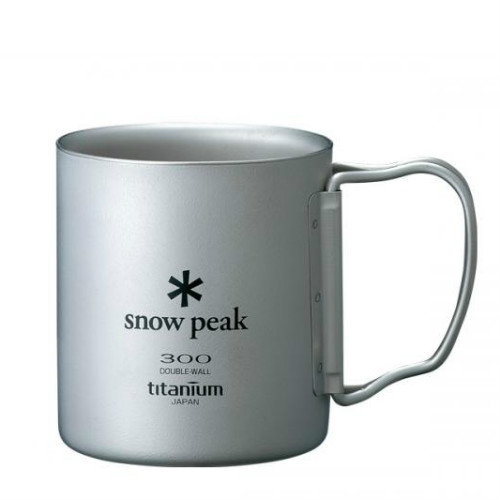 Snow Peak titanium double wall cup 300 ml folding handle (MG-052FH)   SPMG-052FH