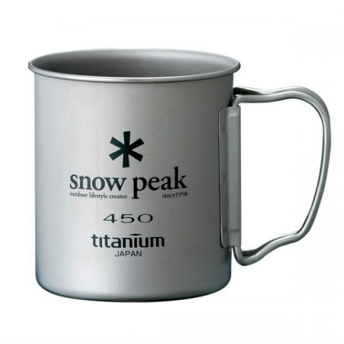 Snow Peak titanium single 450 ml Cup folding handle (MG-043)  SPMG-043