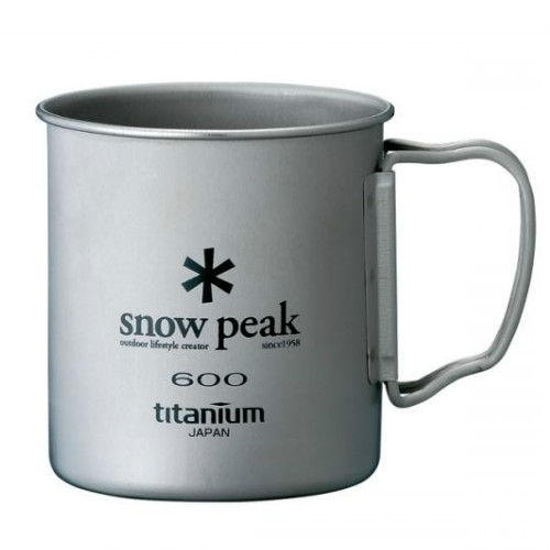 Snow Peak titanium single 600 ml Cup folding handle (MG-044)   SPMG044