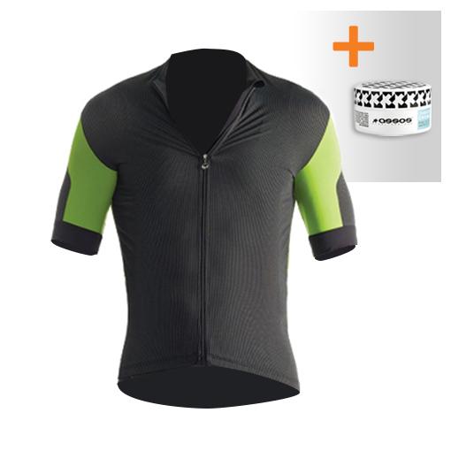 Assos SS.rallytrekkingJersey_evo7 fietsshirt groen heren + NS.skinFoilSummer_evo7  532020163