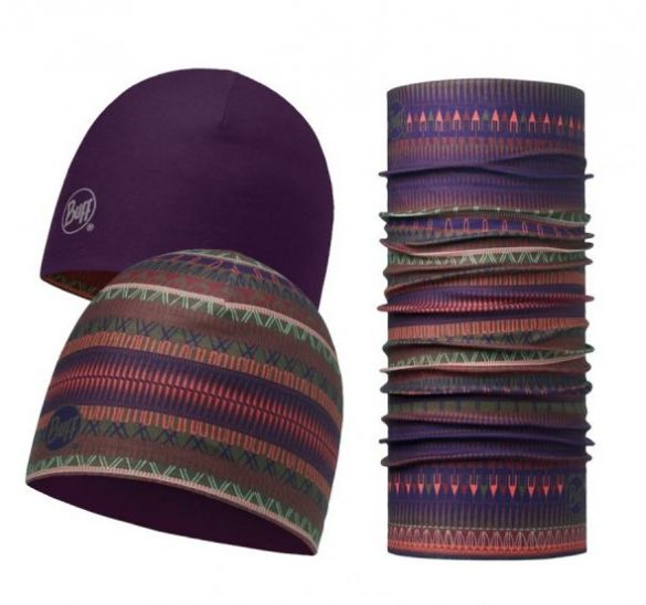 BUFF Microfiber reversible hat + original BUFF combi oslo paars  113283622-VRR