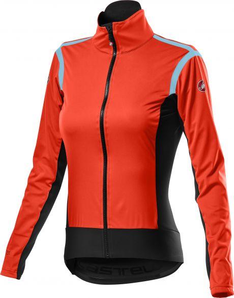 Castelli Alpha RoS 2 light fietsjack rood dames  20554-656