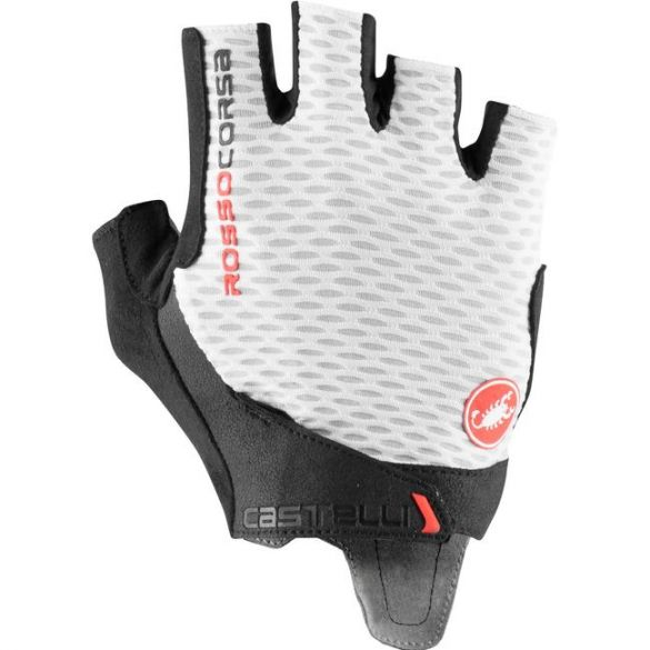 Castelli Rosso Corsa Pro V handschoen wit heren  21024-001