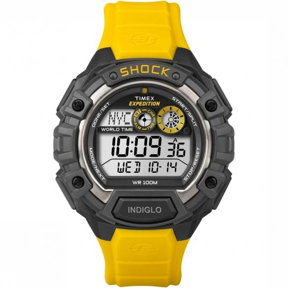 Timex Global Shock horloge zwart/geel   00461759