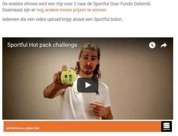 Peter Sagan daagt alle Hot Pack gebruikers uit!