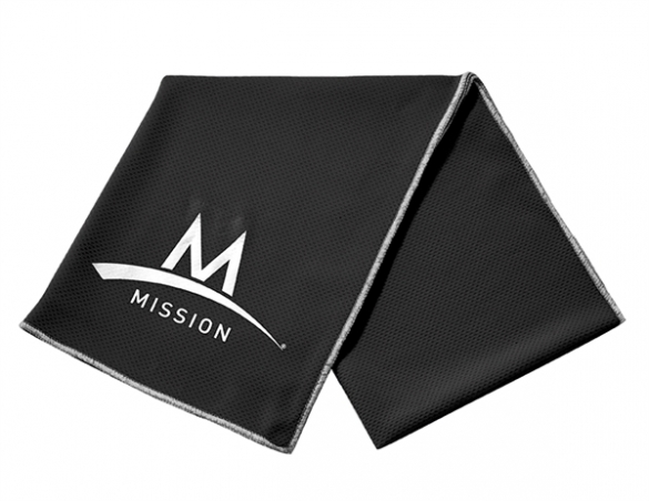 Mission Enduracool Tech Knit Towel zwart Sport  00840005