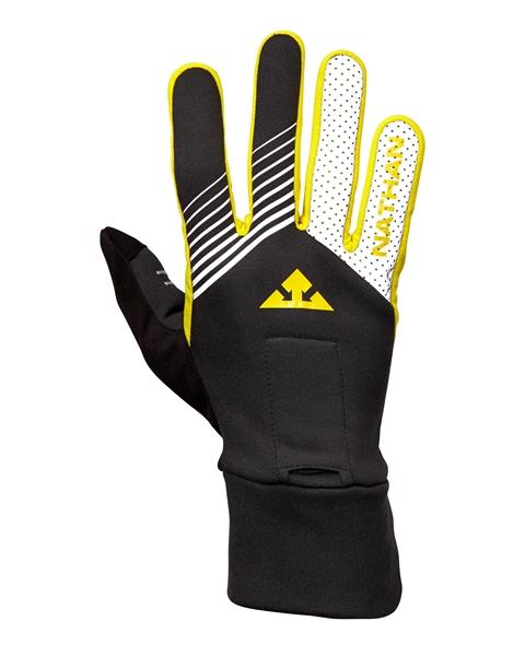 Nathan Bronco hardloophandschoenen zwart/reflectie/geel  00975446