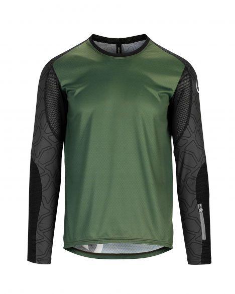 Assos Trail LS fietsshirt groen heren  512420675