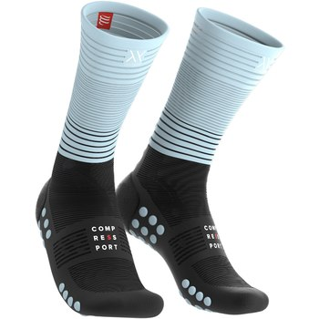 Compressport mid compressie sokken Oxygen zwart/blauw  MDS-R-9954